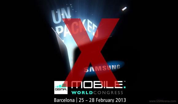 Samsung non terrà alcun evento Unpacked durante l'MWC 2013
