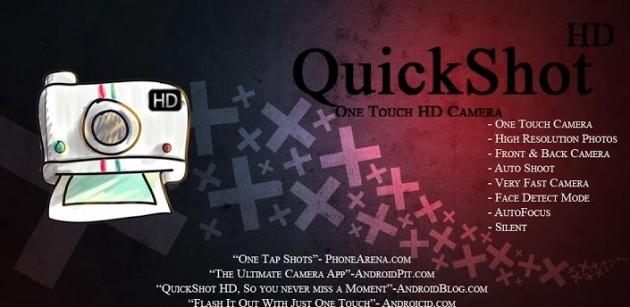 Cogli ogni attimo con un semplice tap grazie a QuickShot HD Camera