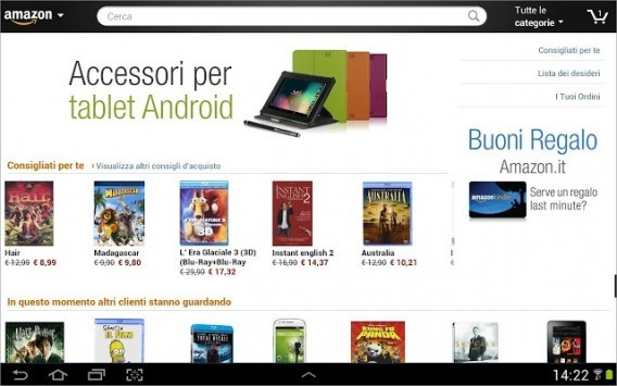 Amazon Mobile (tablet) arriva in Italia