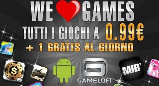 Gameloft, parte la promozione We Love Games: giochi gratis e catalogo a 0.99€ [UPDATE: MC4]