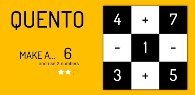 Quento: un puzzle game 'matematico'
