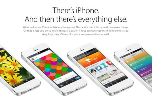 Apple risponde al lancio del Samsung Galaxy S IV con una nuova pagina sul sito