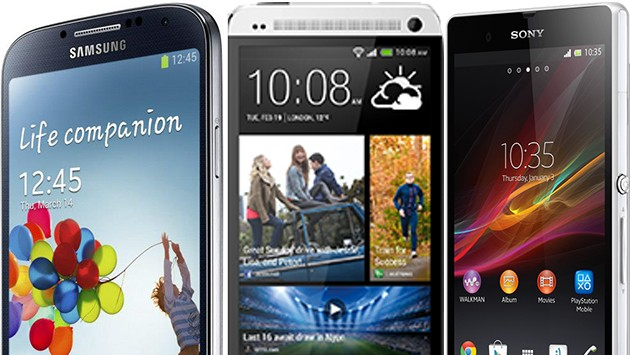 Scontro fra titani: Samsung Galaxy S4 VS Sony Xperia Z VS HTC One