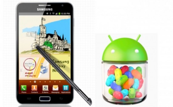 Samsung Galaxy Note: inizia il roll-out di Android 4.1.2 Jelly Bean