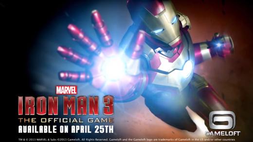 Gameloft pubblica il primo trailer ufficiale di Iron Man 3 per Android