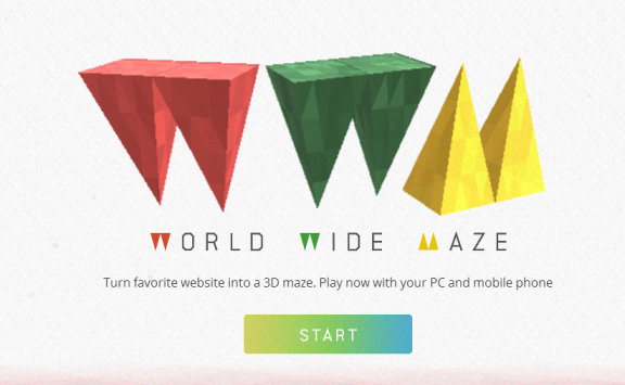 Google World Wide Maze trasforma i siti web in labirinti 3D