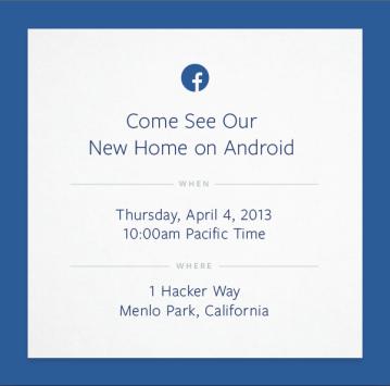 Facebook: all'evento in programma il 4 Aprile verrà presentata una versione modificata di Android