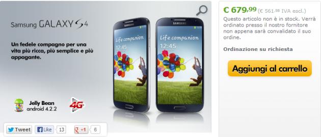 Samsung Galaxy S IV: disponibile da oggi su Expansys a 679€