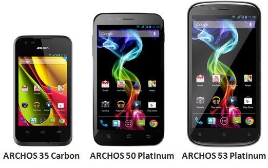 Archos annuncia ufficialmente tre smartphone: 35 Carbon, 50 Platinum e 53 Platinum
