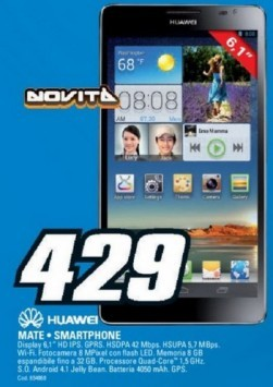 Huawei Ascend Mate disponibile a 429€ da Saturn