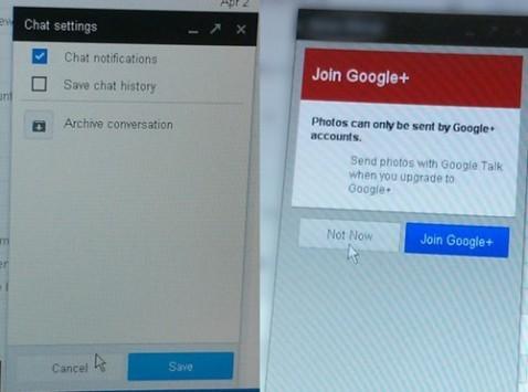 Google Babel: nuove immagini della versione desktop