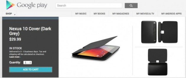 Google Nexus 10, su Play Store arriva la flip cover ufficiale