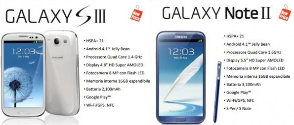 Galaxy S III e Galaxy Note II: Samsung diminuisce i prezzi di listino per l'arrivo del Galaxy S IV
