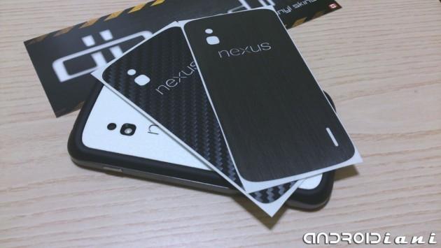 Pellicole dbrand in carbonio, pelle e titanio per Nexus 4