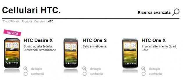 HTC Desire X disponibile all'acquisto con 3 Italia