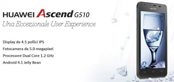 Huawei Ascend G510: 4,5 pollici e dual core da 1.2 GHz disponibile a 199€ in Italia