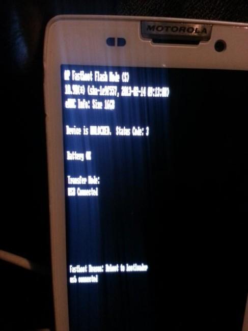 Motorola Bootloader Unlocked