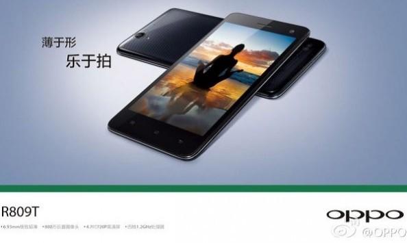 Oppo R809T annunciato ufficialmente: 4.7 pollici, processore quad-core e 6.93 mm di spessore