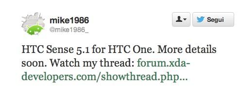 HTC One: già in arrivo la UI Sense 5.1?