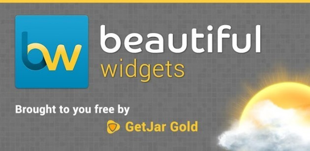Beautiful Widgets Gold disponibile gratuitamente grazie alla collaborazione con GetJar
