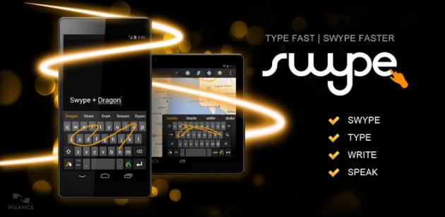 Swype: disponibile sul Play Store la nuova tastiera rivoluzionaria prodotta da Nuance