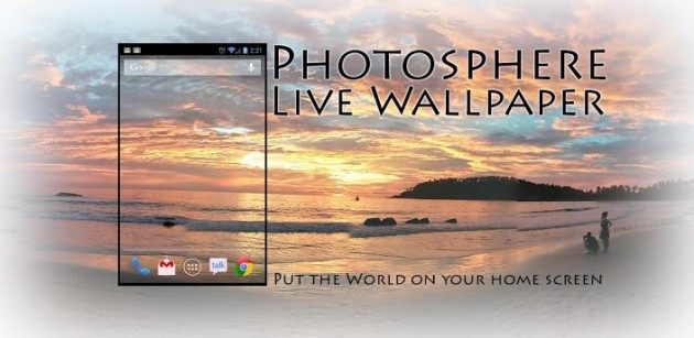 PhotoSphere Live Wallpaper: sfondi a 360° per i vostri device Android