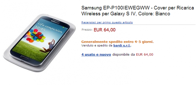 Samsung Galaxy S4: i primi kit di ricarica wireless sono disponibili su Amazon Italia