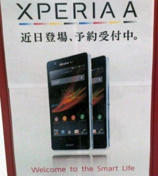 Sony Xperia A: presenti i primi manifesti in Giappone e svelate le specifiche tecniche