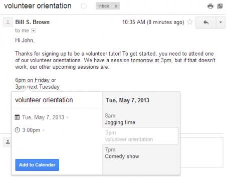 Gmail si aggiorna con la possibilità di aggiungere gli eventi del Calendario dalle mail