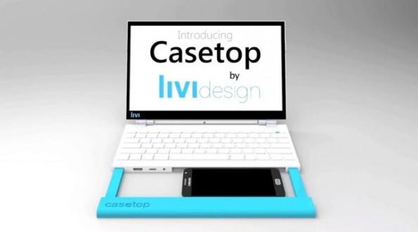 Casetop trasforma semplicemente il tuo smartphone in un laptop