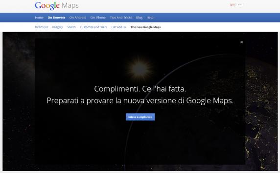 Nuovo Google Maps: ecco il primo incontro e la prima prova