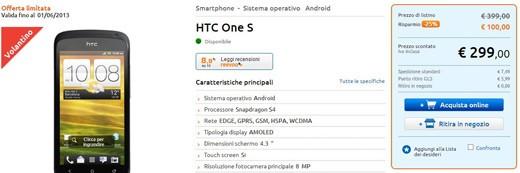 HTC One S: in offerta a 299€ da MarcoPolo Expert