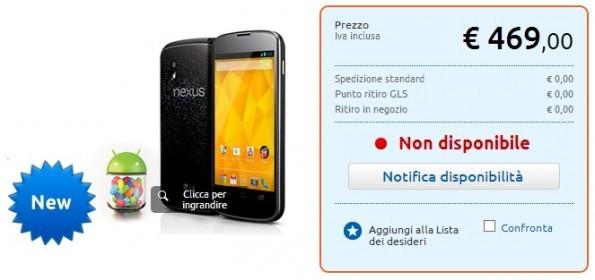 Nexus 4 entra ufficialmente nel listino di MarcoPolo Expert a 469€