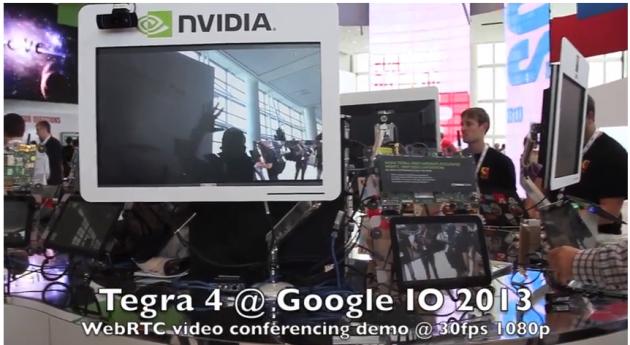 NVIDIA esalta il nuovo Tegra 4 con una video conferenza durante il Google I/O 2013