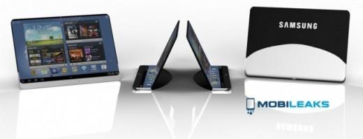 Un concept mostra il primo tablet Samsung con schermo flessibile