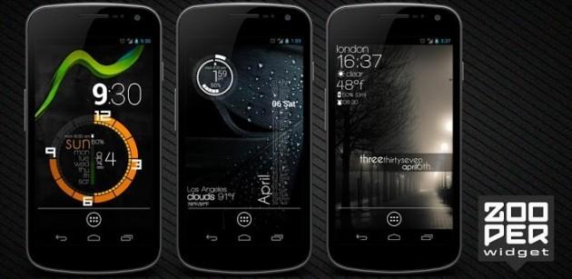 Zooper Widget: nuovi widget minimal ed estremamente personalizzabili