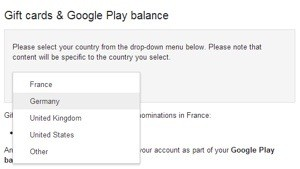 Google lancia le Play Store Gift Card anche in Francia e in Germania