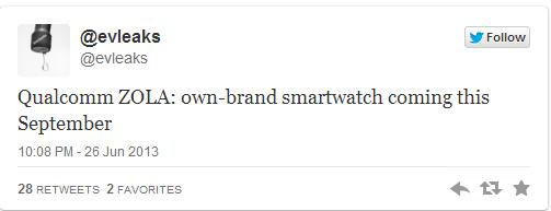 Qualcomm pronta a lanciare il proprio smartwatch Zola a Settembre?