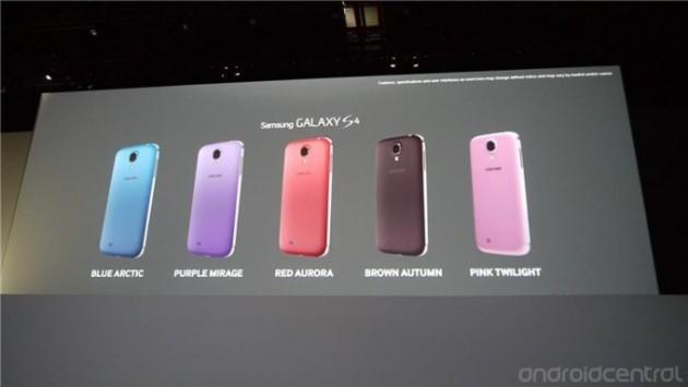 Samsung annuncia ufficialmente 5 nuove colorazioni per il Galaxy S4