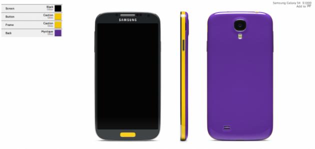 Colorware: acquistare dagli USA un Samsung Galaxy S4 colorato a piacimento