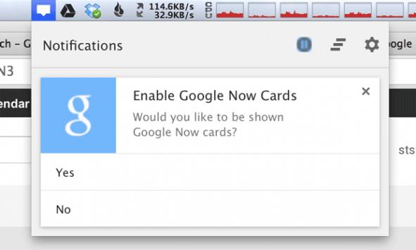 Google Now presto arriverà anche su Chrome per PC