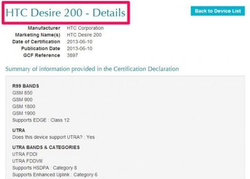 HTC Desire 200: certa la commercializzazione anche in Europa
