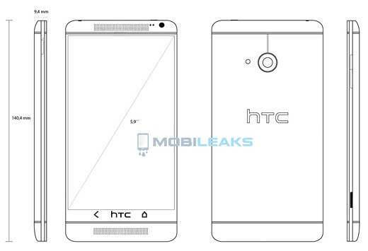 HTC One Max svelato: display da 5.9 pollici e spessore di 9.4 mm