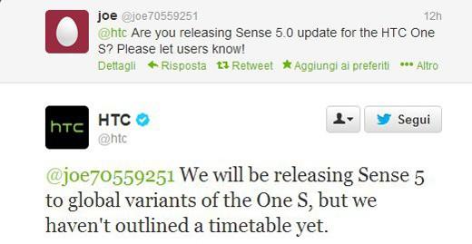 HTC One S: ufficialmente confermato l'update a Sense 5.0
