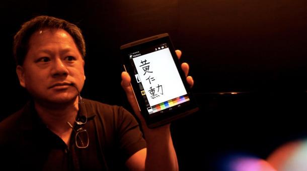 Il CEO di NVIDIA mostra l'utilizzo della Stylus su un Tegra 4