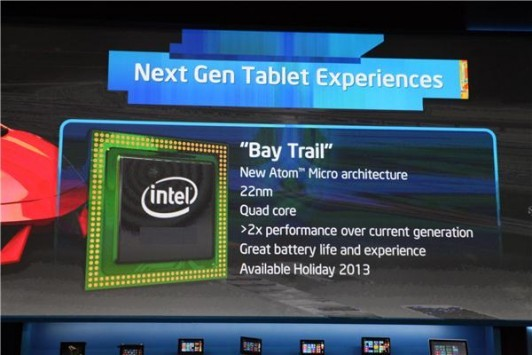 Intel Bay Trail quad-core a 64-bit su Android in estate