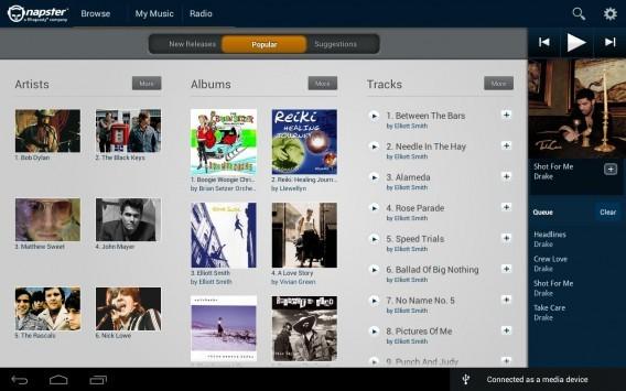 Napster torna anche su Android: ascolto illimitato a 10 Euro al mese