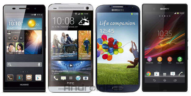 Huawei Ascend P6 vs HTC One vs Galaxy S4 vs Xperia Z: confronto sulle specifiche tecniche