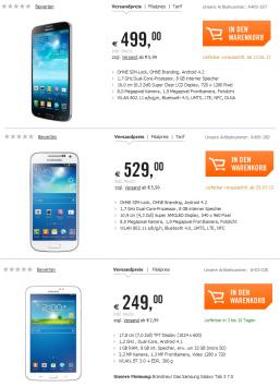 Samsung Galaxy Mega 6.3, Galaxy S4 Mini e Galaxy Tab 3 7.0: questi i prezzi per l'Europa?
