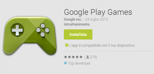 Google Play Games, disponibile su Play Store l'applicazione dedicata